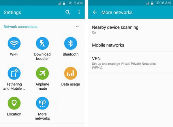 Android More Networks