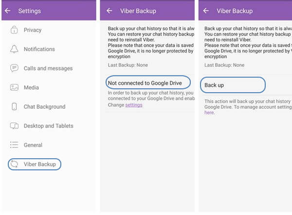 Back Up Viber Chat History Locally