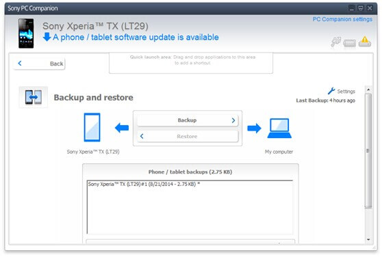 Manage your Xperia on PC