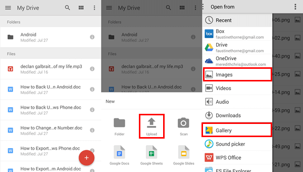 Transfer Android Photos with Google Drive