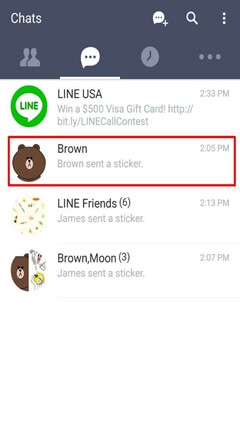 Line Certain Chat