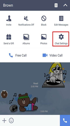 LINE Chat Settings
