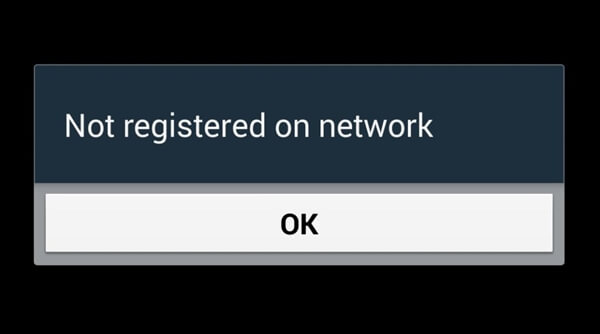 Not Registered on Network