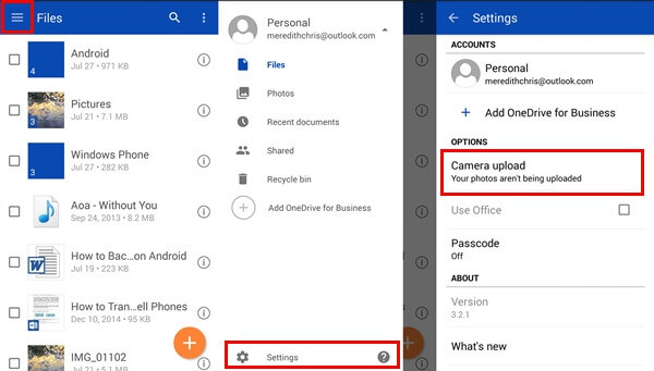 Automatically Sync Android Photos to OneDrive