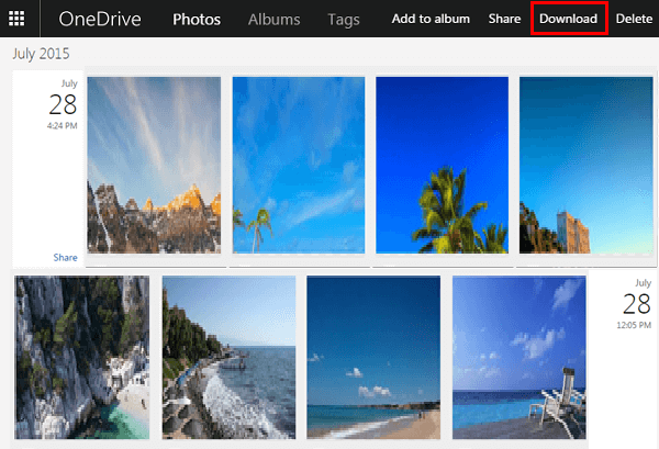 OneDrive Images on PC