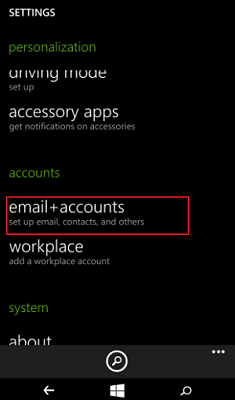 Choose Email Account