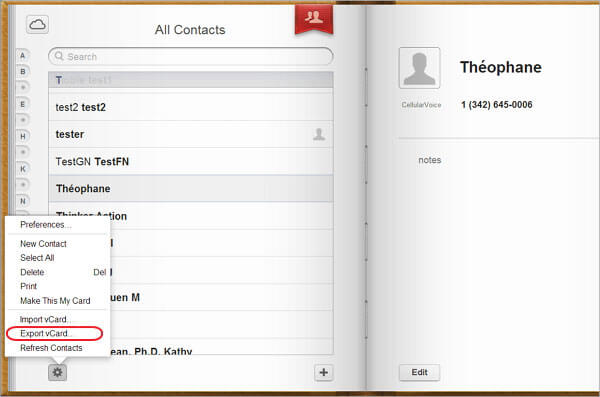 iCloud Contacts to Android
