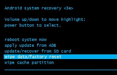 Android System Recovery Mode