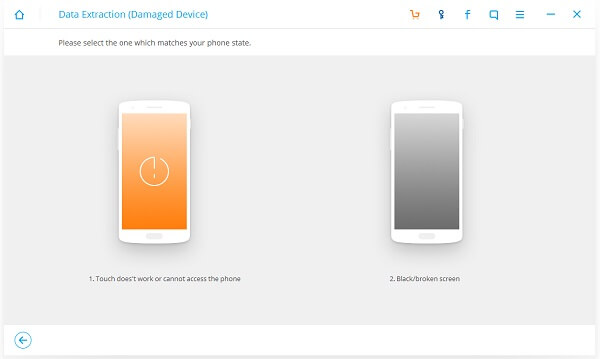Select a Fault Type for Broken Device