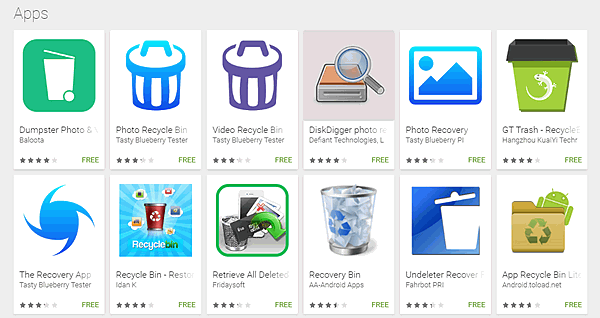 Recycle Bin Apps