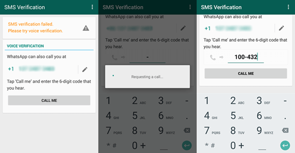 Verify WhatsApp with Voice