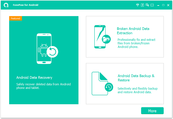 Enter Android Photo Recovery Homepage