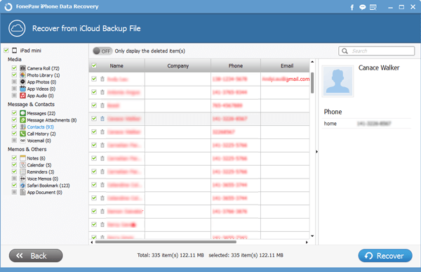 Recover iCloud Contact