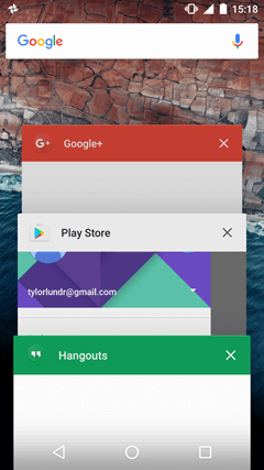 Android N: Recent Apps