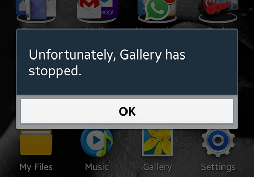 Gallery App Get Stopped