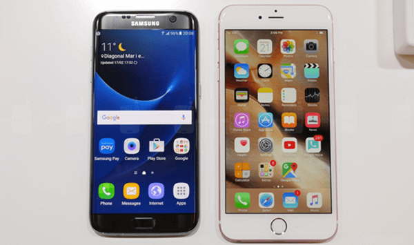 iPhone 6s Plus vs. Samsung Galaxy S7 Edge: UI