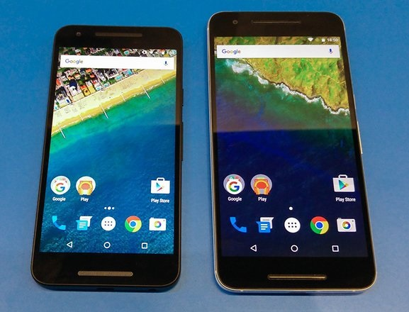 Nexus 5X and Nexus 6P Display Comparison