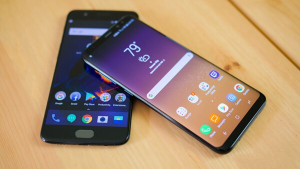 OnePlus 5 and Samsung Galaxy S8