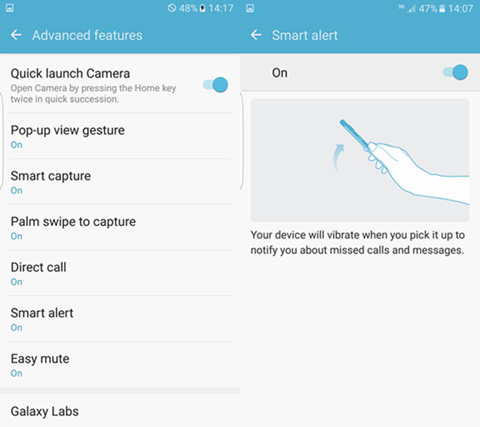 Samsung Galaxy S7 Edge: Smart Alert