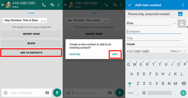 Easily Add Whatsapp Contacts From Android Devices