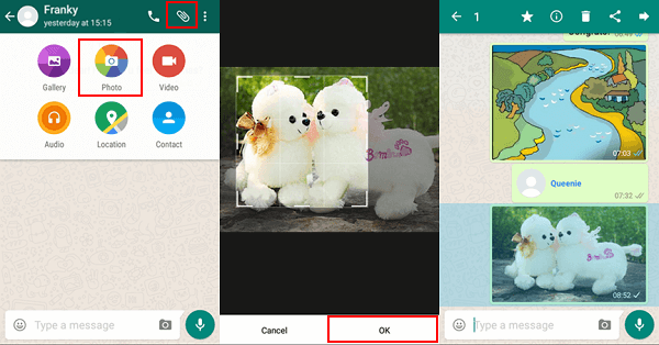 Share Media Files via WhatsApp on Android