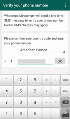 Sign into Android WhatsApp
