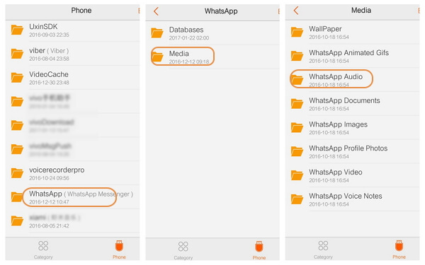 WhatsApp Audio on Android