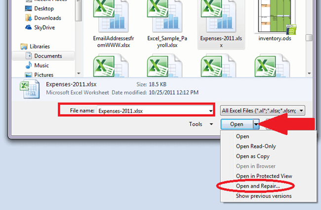 Excel recovery hard